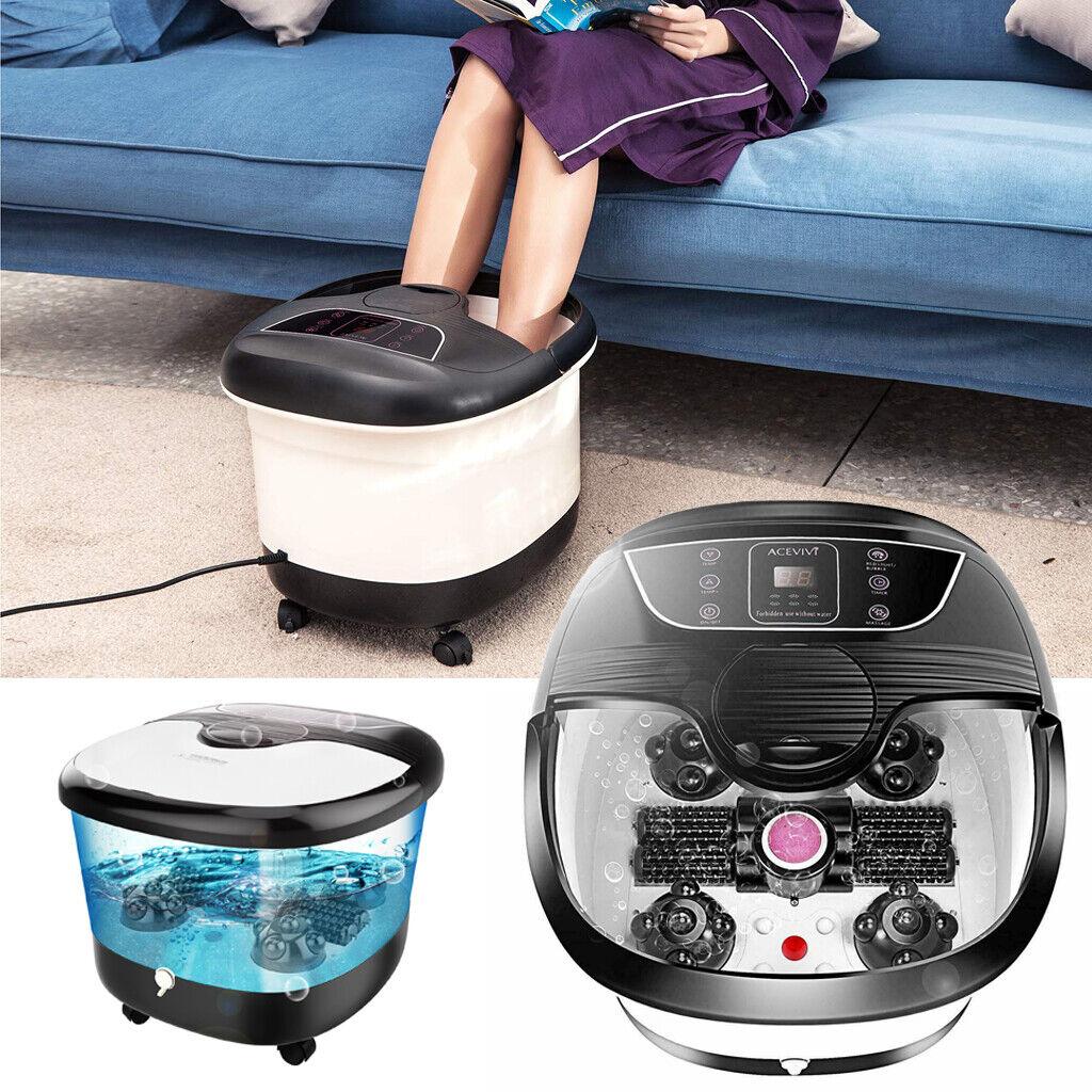 foot spa bath massager bubble heat led