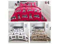 Pug Printed Duvet Cover Set with Pillowcases, Bargain! Single/Double/King/Superking