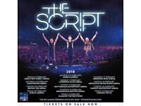 2 seated tickets for The Script in Belfast. 6th February £180