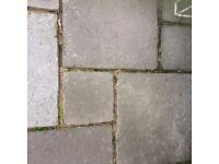 Stonemarket Yorkstone 'Old English ' paving slabs