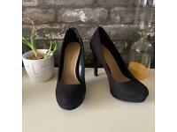 New look black suede heels