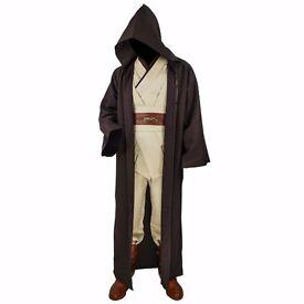 Adult Obi-Wan Kenobi Costume Star Wars Fancy Dress Cosplay Cloak Jedi UK Sizes S/M/L/XL/2XL