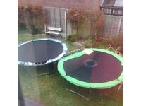 Two trampolines