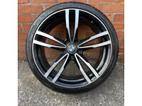 "1x 20"" BMW F10 5 SERIES FRONT ALLOY WHEEL TYRE SPARE SINGLE 5x120"