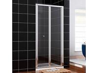 BN 900mm Bi-fold Shower Door Enclosure 5mm Glass Reversible Folding Cubicle Door