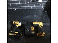 2xDewalt cordless drills