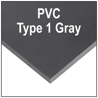 2 Pack 14 6mm Gray Polycarbonate Pvc Type 1 Sheet 8x12 Azm Clearance