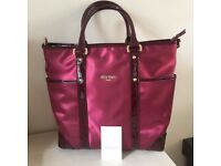 New Florian London Oxblood Nylon Patent Leather Handbag