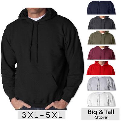 Big Mens Hoodie - Big Men's Gildan Pullover Hoodie Sweatshirt 3XL 4XL 5XL