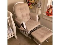 Nursing/feeding/ rocking chair with foot stool