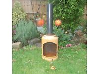 Hand Made Gas Bottle Chiminea Patio Heater