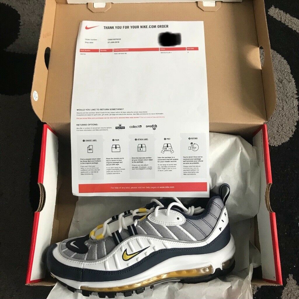 Nike Air Max 98 Tour Yellow Sizes uk 7  c6d0216ec