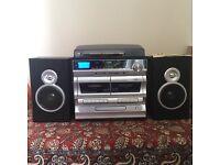Zennox 6-in-1 Midi Hi-Fi Turntable Music System Vinyl Cassettes Radio & CDs LCD Display & Speakers