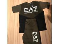 Men's EA7 Armani Top & Shorts Medium