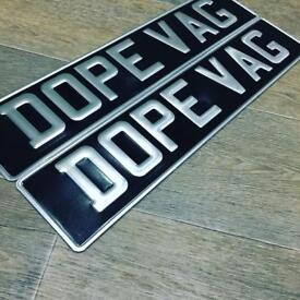 CLASSIC PRESSED PLATES/CLASSIC CAR PLATES/LICENSE PLATES/£25