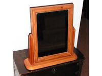 Nice little pine dressing table mirror - like new.