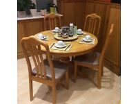 Round Dining Table with Four Chairs Dining Set