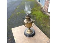 Old oil lamp made from a trophy