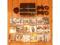 PS3 BUNDLE: Playstation 3 + 18 Games + 2 Controllers