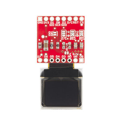 """0.66"""" 64x48 Micro OLED Display Module Breakout Board Compatible with"""