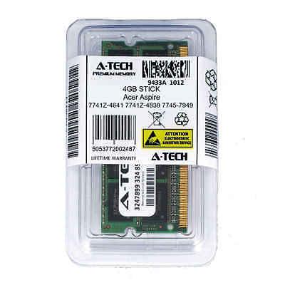 4GB SODIMM Acer Aspire 7741Z-4641 7741Z-4839 7745-7949 7745G 7750 Ram Memory
