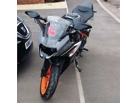 Low mileage KTM RC125 for sale. Datatag, just been serviced.