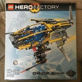 LEGO HERO FACTORY – 7160 – DROP SHIP – NEW IN BOX – LARGE SET - now REDUCED