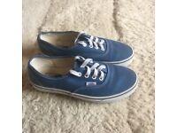 Almost new blue vans