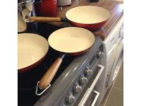 Set of 3 heavy based pans all nearly new