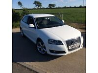 WHITE AUDI A3 TECHNIK in EXCELLENT CONDITION FOR SALE - RECENTLY PASSED FULL MOT