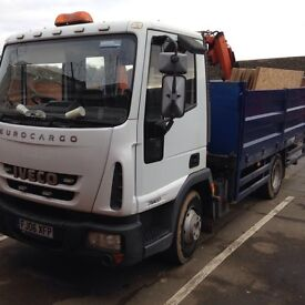 7.5 tonne Iveco Eurocargo tipper with hiab