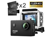 Full HD 12MP 1080p Sports Action Digital Camera 32GB USB Accessories LCD Battery