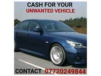 UNWANTED VEHICLE'S BOUGHT FOR CASH
