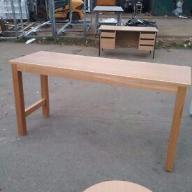 Long teak work bench