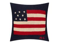 Polo Ralph Lauren Flag Knit Navy Cushion Cover - 50x50cm Bedroom Furniture JK73