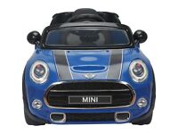 Licensed Mini Cooper S 12v child's Electric Ride on Car - Red or Blue