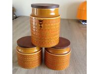 Retro style kitchen cannisters