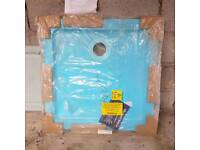 New wrapped Stone Resin Shower Tray 760x760