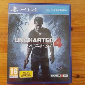 Uncharted 4 - PS4 Game Luton