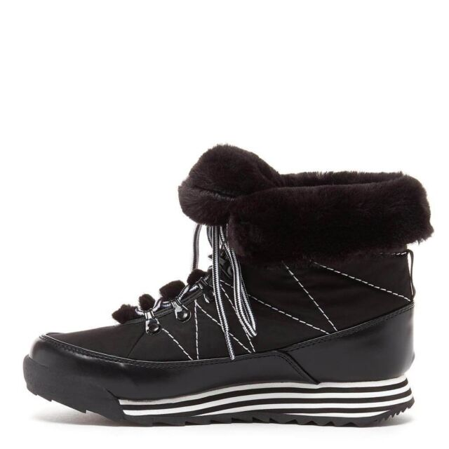 ff9cb6f12 Rocket Dog Icee Black Fur Lined Womens Ankle Boots Shoes Size UK 5 EU 38  Ice Snow