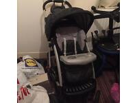 Mothercare pram with car seat cosy toes rain cover,extra piece for padding,a cover for the car seat