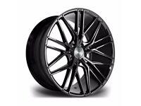 "Fits Range Rover Vogue Sport Disco x4 22"" Riviera Rv130 Alloy Wheels Gloss Black"