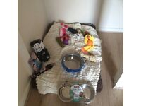 Large dog accessories harness lead bed blanket toys chews dog food bowls and stair gate
