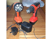 Black & Decker 1.4v Drill & Torch Set with battery - only for parts as not in working order