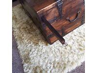 Dark wood storage chest/coffee table