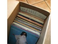 Large box of vinyl LPs