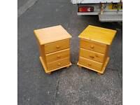 2 pinewood 3 draw lockers