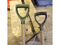Spade and shovel