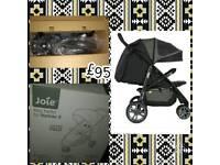BRAND NEW Joie Litetrax 3 wheeler in black