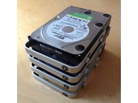 4x Western Digital 1TB Serial ATA 'WD10EVDS-63N5B1' Hard-Drives - from Apple Mac Computer